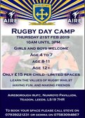 Junior Rugby Day Camp