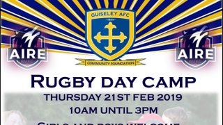 IMPORTANT DETAILS FOR RUGBY CAMP