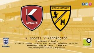 UP NEXT: K Sports (a) - Weds, 7.45pm
