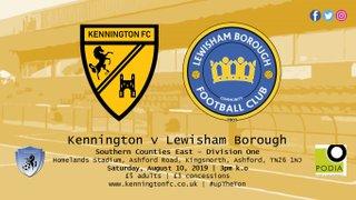 UP NEXT: Lewisham Borough (h), SCEFL Division One