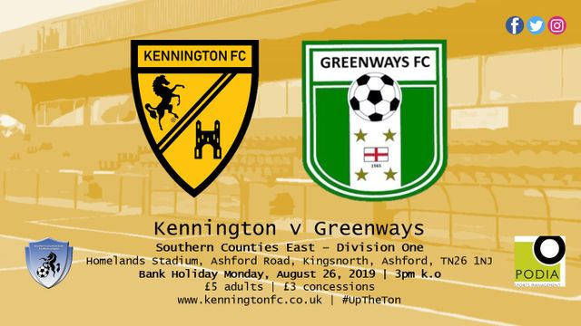 BANK HOLIDAY FOOTBALL - Greenways (h)
