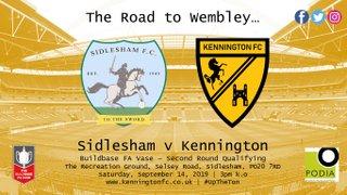 UP NEXT: Sidlesham (a), FA Vase - 2nd Round Qualifying