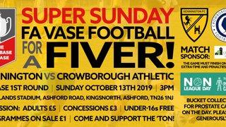 Super Sunday - Vase Football For A Fiver!
