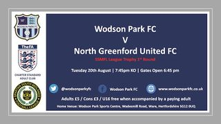 SSMFL Trophy  Wodson Park V North Greenford Utd