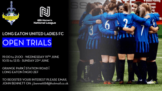 Long Eaton United FC Ladies section are recruiting new players for the upcoming season