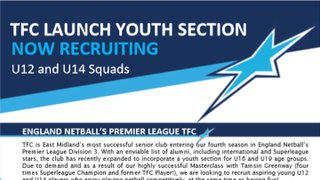 Launching TFC U12s and U14s Junior Section