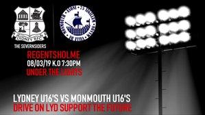 Lydney U16's vs Monmouth U16's