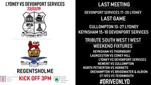Lydney vs Devonport Services