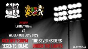 Lydney U16's vs Widden Old Boys U16's