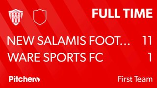 Match Day 32 Result: New Salamis 11 (Eleven) - 1 Ware Sports