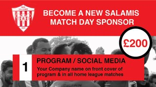 Match Day Sponsorship Opportunities