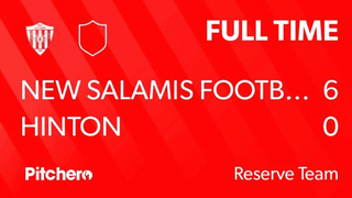 Reserves Match Day 1 - New Salamis 6 - 0 Hinton