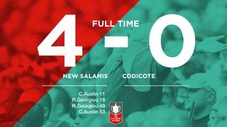 Match Day 7 Result - New Salamis 4 - 0 Codicote