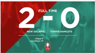 Match Day 9 Result : New Salamis 2 - 0 Tower Hamlets