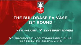 FA VASE 1st Round Draw - New Salamis vs Eynesbury Rovers