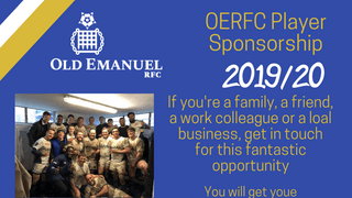 OERFC Player Sponsorship 2019-20 looking for sponsors!