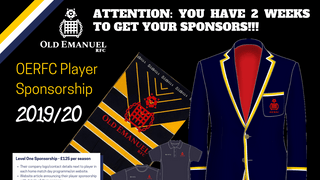 2 WEEKS TO GO TO GET YOUR SPONSORS  OR BUY YOUR NEW MERCHANDISE