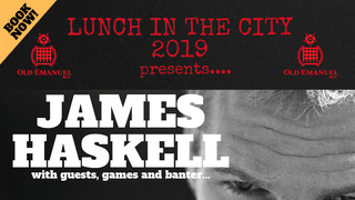 LAUNCH OF THE OERFC CITY LUNCH 2019 WITH JAMES HASKELL!