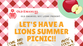 Lions Summer get-together next Sunday!