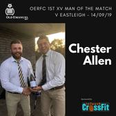 OERFC 1st XV Man of the Match v Eastleigh - Chester Allen