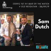 OERFC 1st XV Man of the Match v Old Reigatian - Sam Dutch