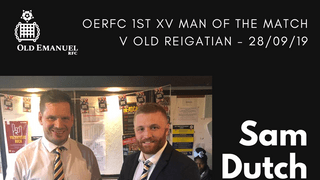 OERFC 1st XV Man of the Match v Old Reigatian - Sam Dutch
