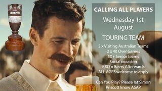 August 1st - Call For Players - Australian Touring Teams