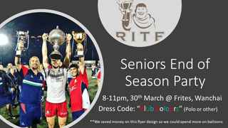 Seniors - End of Season Party @ Frites (Wanchai)