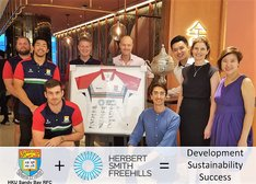 Winning Together: Herbert Smith Freehills and Sandy Bay RFC