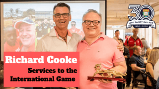 HKRU Salutes Cookie for Services to the International Game
