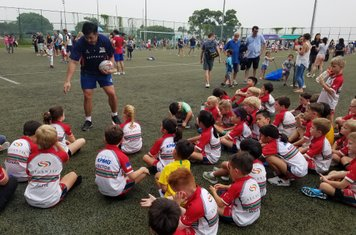 Jal Lam laying down the rugby gospel