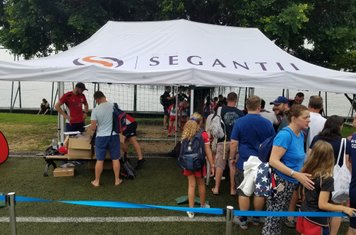 Distribution tent #1 - saved from the elements by Segantii
