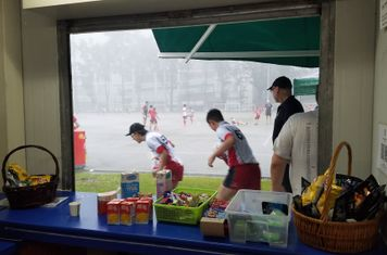 The rain hammered down for the Youth training