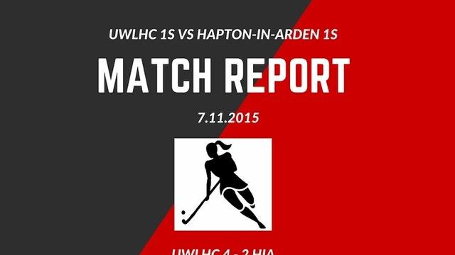 Match Report - UWLHC 1s vs Hampton-in-Arden 1s