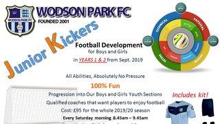 Junior Kickers Development Squad Coming Soon