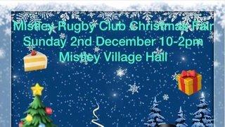 Mistley RUFC Xmas Fair Sunday Dec 2nd 10am to 2 pm at Mistley Village Hall