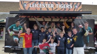 Coalville RFC at Motorfest with Leicester Tigers