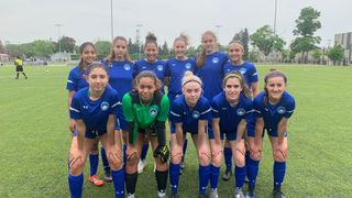 Berlin Academy XI Girls ties Greater Sudbury Impact