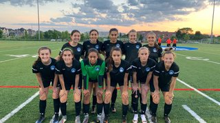 Berlin Academy XI Girls ties King City Royals on the road