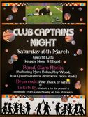 Club Captain Night