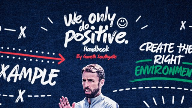 """England gaffer shows his support for """"We Only Do Positive"""""""