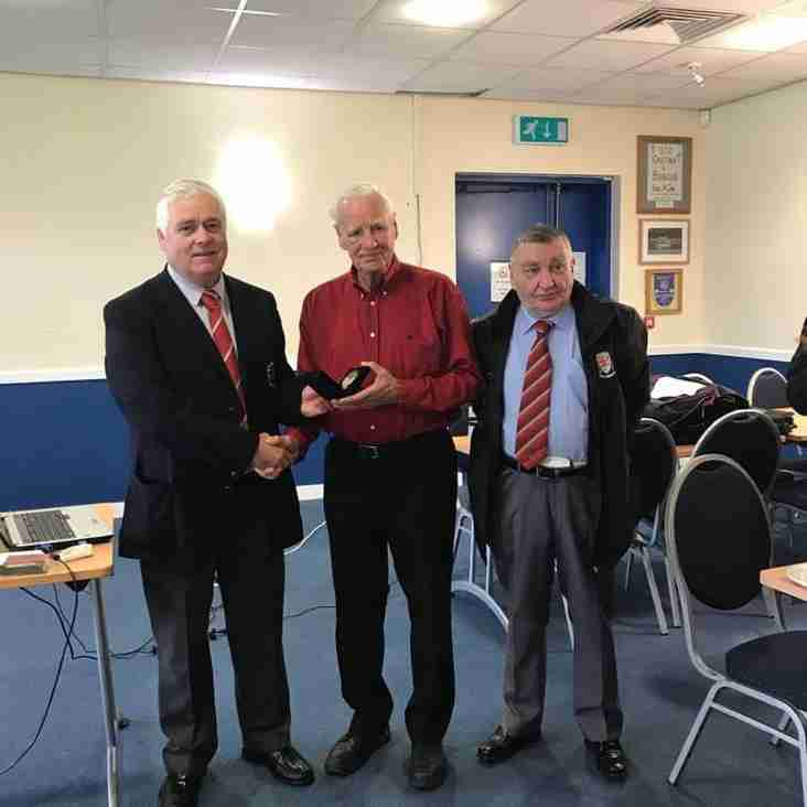FAW Long Service medal for referee