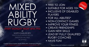 Mixed Ability Rugby Team: Bringing Our Community Closer Together!