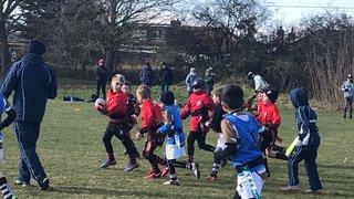 Under 8's Southend vs SWF RFC. Sunday 25th February 2018