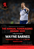 The Annual Fundraising Dinner 2019 with Special Guest Wayne Barnes