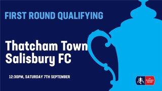 Emirates FA Cup: Thatcham Town 2-3 Salisbury FC
