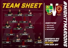 #MightyMaroons name side to travel to Gosforth