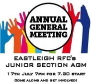 Junior AGM Wednesday 17th July at 7pm