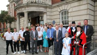 Mayor of Llandudno wishes luck to the football club ahead of  JD Cymru North opener