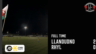 MATCH REPORT: Llandudno bounce back with 2-0 win over Rhyl